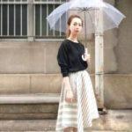 梅雨に何を着るか迷う人へ!気分も上がる大人かわいい雨の日コーデ☆