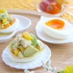 高たんぱく食品「高野豆腐」をアレンジ☆半熟卵の高野豆腐とアボカドのせ