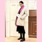 """""""ピンクのストール""""を使った冬コーデ♡大人可愛いスタイル術"""