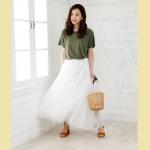 夏は爽やかで透明感のあるコーデが◎ホワイトスカートで作る爽やかデートコーデ特集