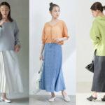 アラサー女子の「デニムスカートコーデ」10選!上品な大人カジュアルな着こなし方